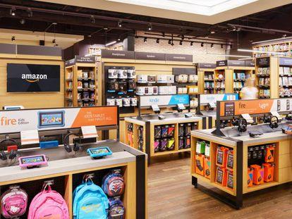Una de las seis librerías que Amazon opera en EE UU
