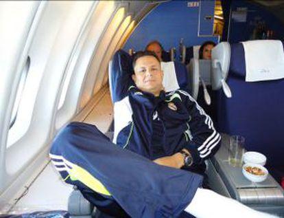 Uno de los detenidos, el abogado Rafael Humberto Celaya, en un viaje de México a Madrid en julio de 2010.