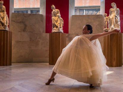 Rocío Molina, en un momento de su actuación en el Museo del Prado.