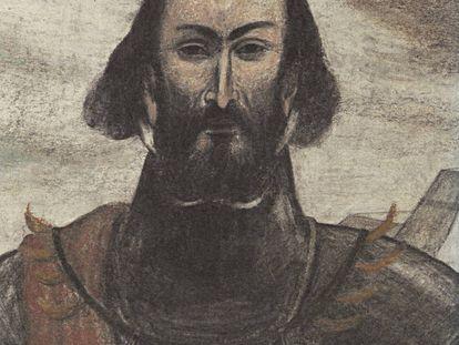 Hernán Cortés, dibujado por Pablo Auladell para la película 'El sueño de Malinche', de Gonzalo Suárez.