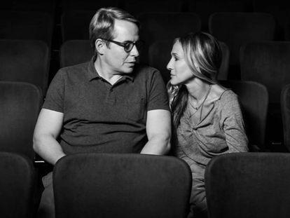 Matthew Broderick y Sarah Jessica Parker, en la imagen que han colgado para anunciar su retorno a Broadway.