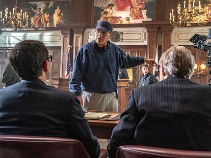 Aaron Sorkin, en el rodaje de 'El juicio de los 7 de Chicago'.