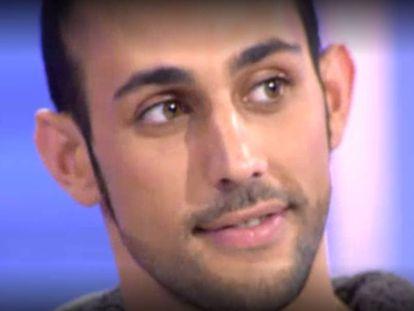 Captura de pantalla de Javi C. en el programa 'Mujeres y Hombres y viceversa' en 2013.