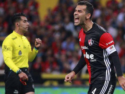Márquez, en un partido con el Atlas.