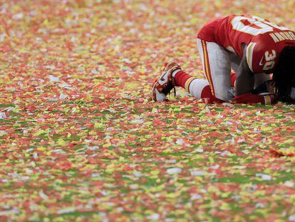 El jugador de los Chiefs, Alex Brown, tras el partido.