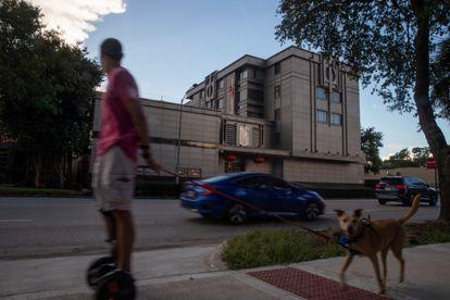 El consulado chino en Houston (Texas), el 22 de julio de 2020.