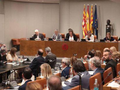 Pleno en la Diputación de Barcelona.