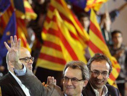 El candidato de CiU a la presidencia de la Generalitat, Artur Mas, en Sabadell (Barcelona).