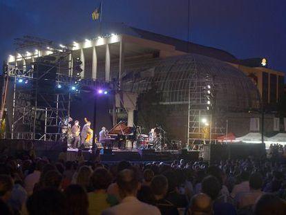 Uno de los conciertos del festival del Palau celebrados al aire libre.