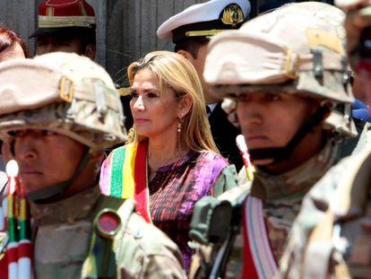 La presidenta interina de Bolivia, Jeanine Áñez, en La Paz, en noviembre del 2019.