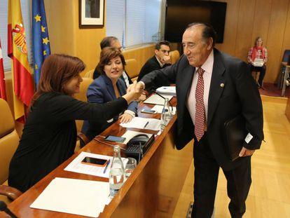 Transcurso de la Comisión de investigación caso 'Aneri' en el turno de declaracion de Salvador Santos, en la Asamblea de Madrid.