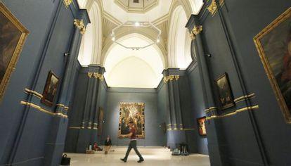 Sala principal del Museo de la Fundación Carlos de Amberes, en Madrid.