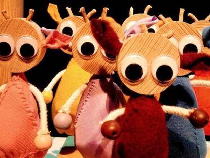 Imagen de los títeres de la obra 'Los siete cabritillos', relizada por Los Claveles Teatro.