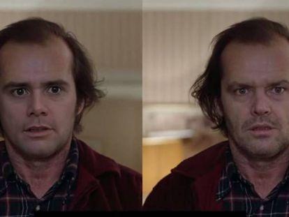 Un 'deepfake' de Jim Carrey como Jack Nicholson en 'El resplandor'.