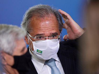 El ministro de Economía de Brasil, Paulo Guedes, el pasado 12 de enero en Brasilia.