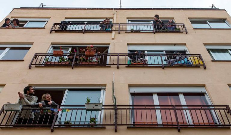 Balcones del Masnou, en el Maresme.