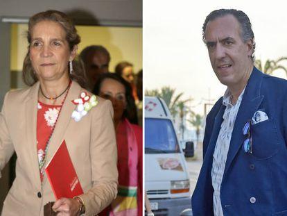 Elena de Borbón y Jaime de Marichalar en imágenes de 2017.