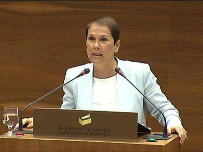 La presidenta de Navarra defiende a la consejera de Bildu en su investidura