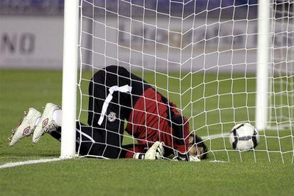 Diego López, tras encajar un gol del Tenerife.