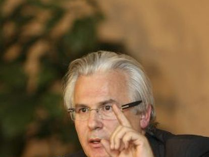 Baltasar Garzón el pasado 3 de noviembre en una conferencia en México.