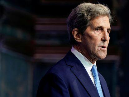 John Kerry en un acto con Joe Biden en Delaware el pasado 24 de noviembre.