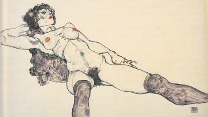 'Desnudo femenino reclinado con las piernas abiertas' (1914), de Egon Schiele, conservado en el Albertina de Viena.