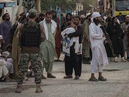Paso fronterizo de Torkham entre Pakistán y Afganistán el pasado 20 de agosto