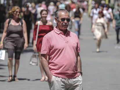 El policía Antonio Galiano en Barcelona.