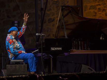 Chucho Valdés, durante su actuación el jueves en Jazzaldia.
