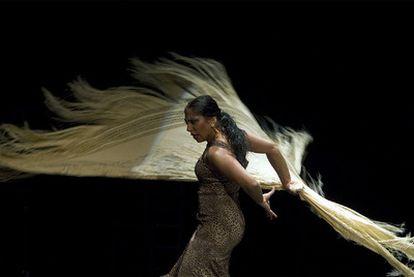 La bailaora La Moneta, en un espectáculo presentado en la Bienal de Flamenco de Sevilla el pasado 8 de octubre.