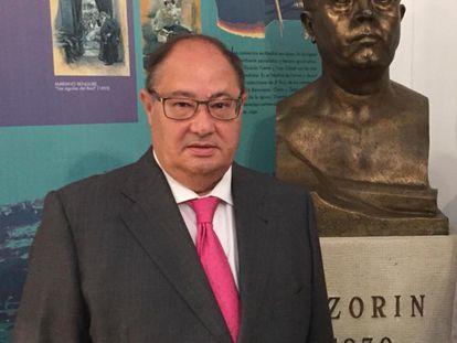 José Payá Bernabé, en la Casa Museo Azorín, en Monóvar