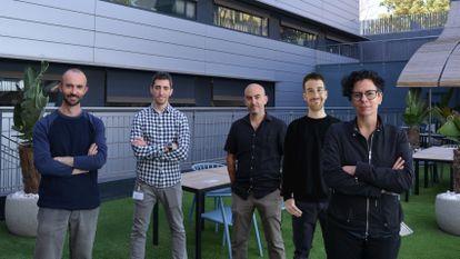 Los científicos Ferran Muiños, Francisco Martinez-Jimenez, Abel González-Pérez, Oriol Pich y Núria López-Bigas.
