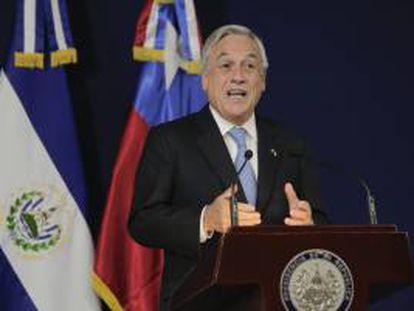 El presidente de Chile, Sebastián Piñera, en una declaración el pasado 4 de junio de 2013, en Casa Presidencial en San Salvador (El Salvador).