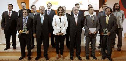 Báñez y Brufau, junto a los galardonados