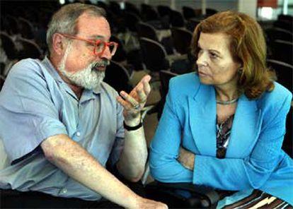 Fernando Savater y Carmen Riera.