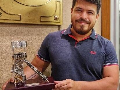 Eduardo Iturrizaga, campeón de España absoluto de ajedrez, el martes en Linares