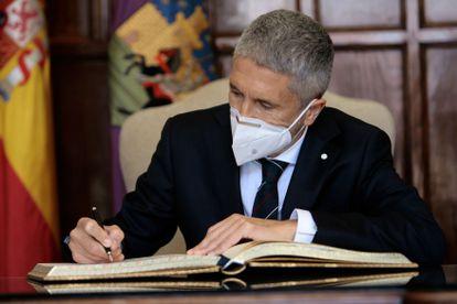 El ministro del Interior, Fernando Grande-Marlaska, en un acto en Guadalajara el pasado día 7 de mayo.
