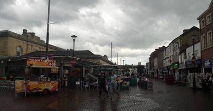 El centro de la ciudad de Doncaster, donde el Brexit ha ganado por un 69%.