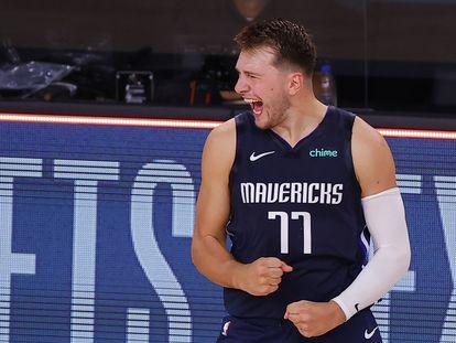 Doncic, en uno de los partidos entre los Mavericks y los Clippers.