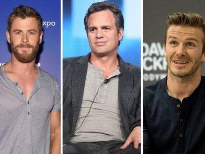 Los actores Chris Hemsworth y Mark Ruffalo, junto con el exfutbolista David Beckham, son algunos de los que han sucumbido a la camiseta de moda.
