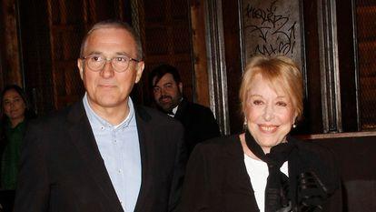 Xavier y Rosa Maria Sardà en 2016, en la entrega de los premios Feroz en Madrid.