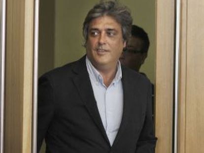 El portavoz parlamentario del PP, Pedro Puy, ayer en O Hórreo.