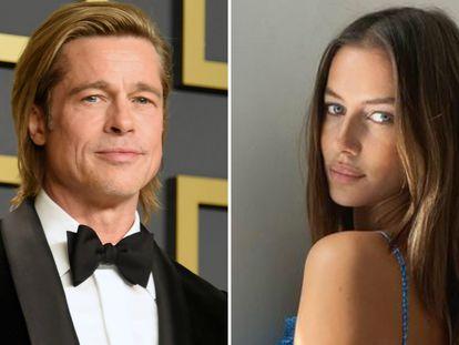 El actor Brad Pitt y la modelo Nicola Poturalski.