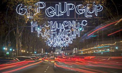 Luces de Navidad en Barcelona.
