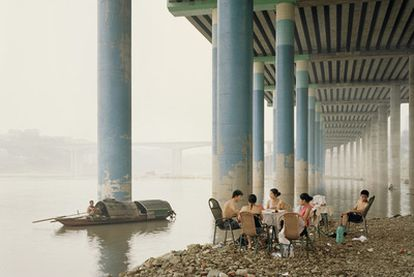 Una de las fotografías tomadas junto al Yangtsé.