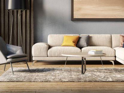 Una alfombra puede contribuir a crear un ambiente más cálido en el salón o el dormitorio.