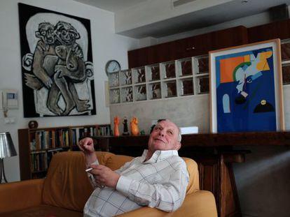 El escritor António Lobo Antunes, en su casa de Lisboa la pasada semana.