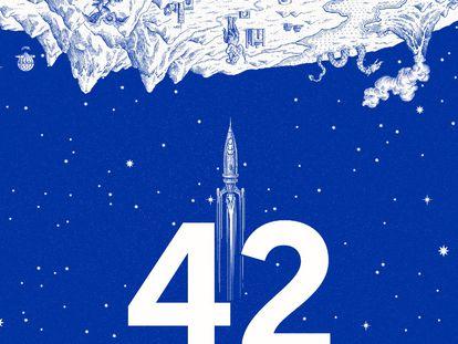 Cartel de 42, Primer Festival de Géneros Fantásticos de Barcelona.