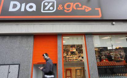 Fachada de una tienda Dia en Madrid.