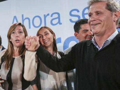 Alicia Sánchez Camacho y Alberto Fernández Diaz, durante el acto de cierre de campaña.
